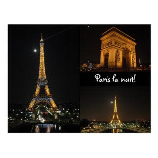 La van Parijs nuit! briefkaart