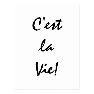 La Vie van C'est! Briefkaart
