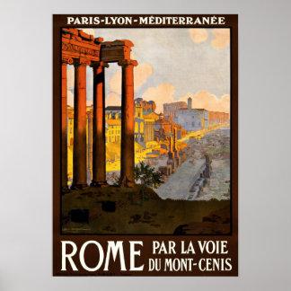 LA VOIE DUMONT-CENIS VAN HET PARI VAN ROME POSTER