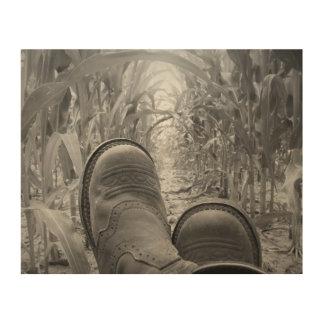 """Laarzen 10 van de veedrijfster """" x8"""" het Houten Hout Prints"""