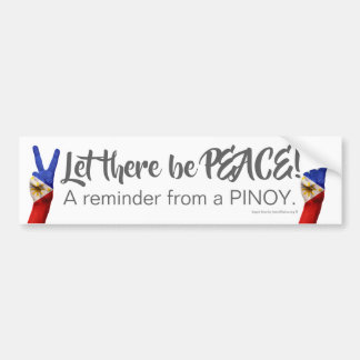 Laat daar Vrede zijn - een herinnering van een Bumpersticker