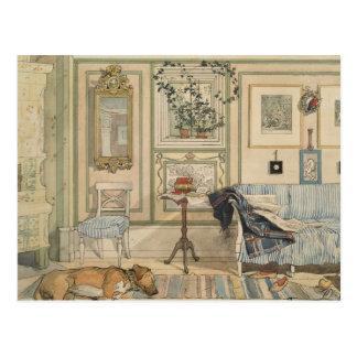 Laat de Honden van de Slaap Zweedse liggen Briefkaart