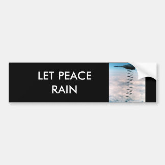 Laat de Regen van de Vrede Bumpersticker