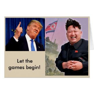 Laat de Spelen beginnen! Wenskaart
