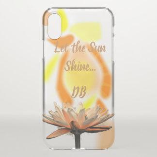 Laat de Zonneschijn bloeien Gepersonaliseerd iPhone X Hoesje