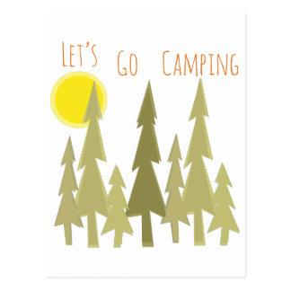 Laat gaan kamperend briefkaart