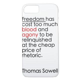 Laat geen vrijheid retoriek zijn iPhone 7 hoesje