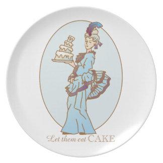 Laat hen Cake eten Melamine+bord