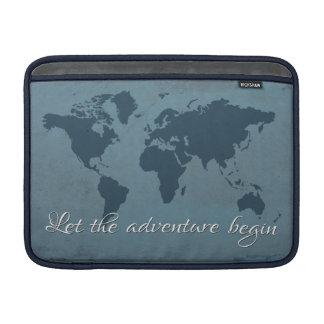 Laat het avontuur beginnen MacBook sleeve