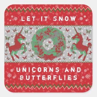 """""""Laat het de Stickers sneeuwen van Eenhoorns & van"""