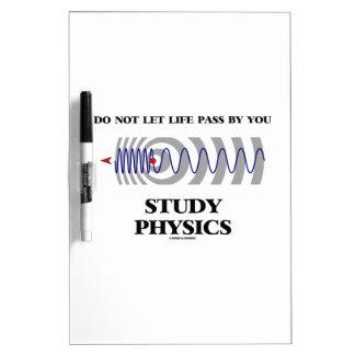Laat het geen Leven door u de Fysica van de Studie Whiteboards
