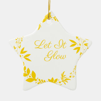 Laat het gloeien keramisch ster ornament
