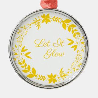 Laat het gloeien zilverkleurig rond ornament