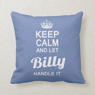 Laat het handvat van Billy het! Sierkussen