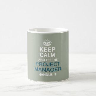 Laat het Handvat van de Projectleider van het Koffiemok