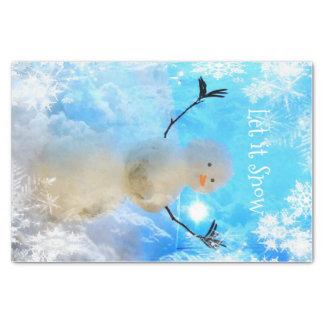Laat het het Papieren zakdoekje van de Sneeuwman Tissuepapier