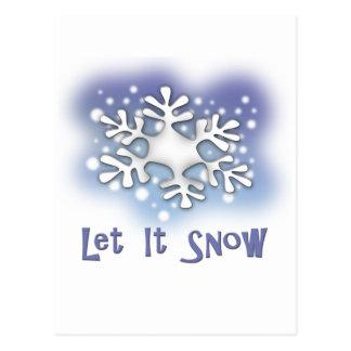 Laat het sneeuwen briefkaart