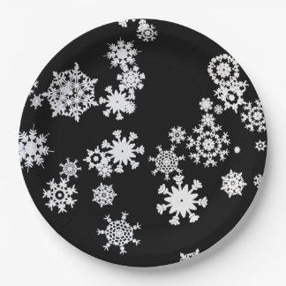 Laat het sneeuwen! De Borden van het Document van Papieren Bordje