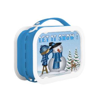 Laat het sneeuwen de doos van de Lunch van de Lunchbox