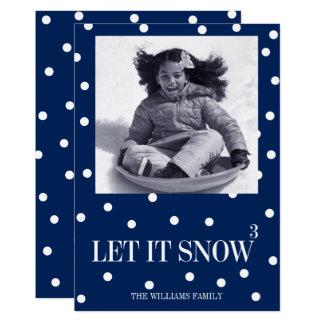 Laat het sneeuwen de Kaart van de Foto van de