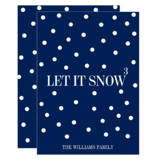 Laat het sneeuwen de Kaart van de Vakantie van