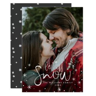 Laat het sneeuwen de Kerstkaarten van de Foto Kaart