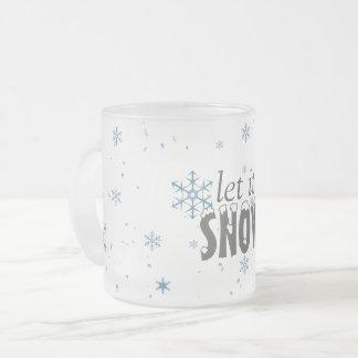 Laat het sneeuwen de Mok van de Sneeuwvlok
