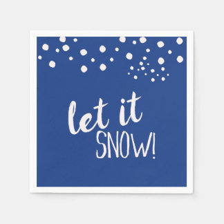 Laat het sneeuwen de Servetten van het Document Papieren Servet