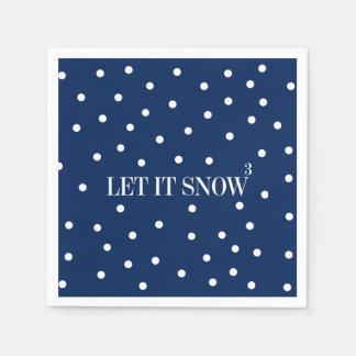 Laat het sneeuwen de Servetten van het Document Papieren Servetten