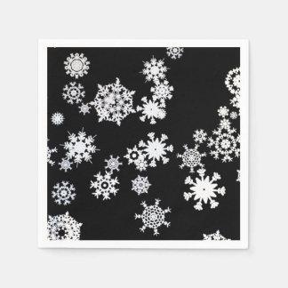 Laat het sneeuwen! De Servetten van het Document Wegwerp Servetten