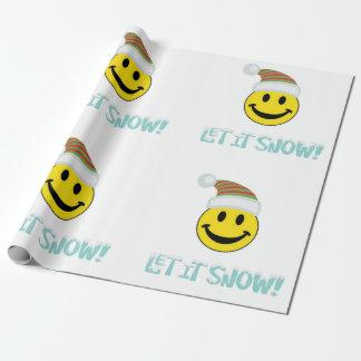 Laat het sneeuwen Gezicht Smiley Inpakpapier