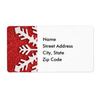 Laat het sneeuwen het Etiket van het Adres Verzendlabel