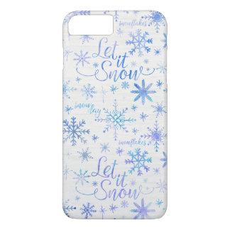 Laat het sneeuwen het Patroon van de Winter iPhone 8/7 Plus Hoesje