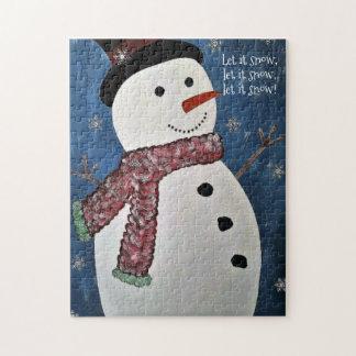 Laat het sneeuwen het Raadsel van de Sneeuwman van Legpuzzel