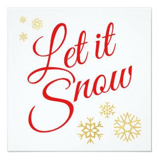 Laat het sneeuwen Kerstmis Kaart