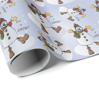 Laat het sneeuwen Kerstmis van de Sneeuwman Inpakpapier