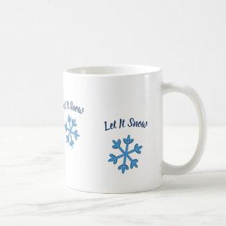 Laat het sneeuwen, laat het sneeuwen, laat het koffiemok