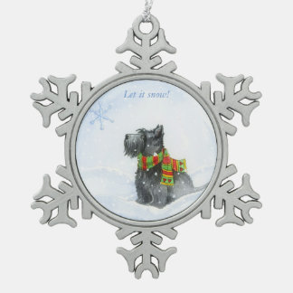 Laat het sneeuwen! tin sneeuwvlok ornament