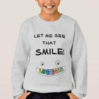 LAAT ME ZIEN DAT de Leuke Toothy Mond Smiley van Trui