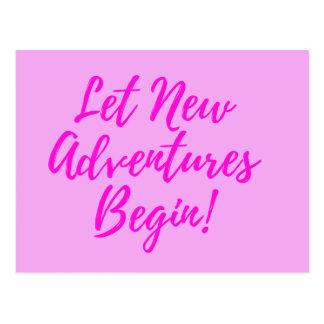 Laat Nieuwe Avonturen - roze - met briefkaart
