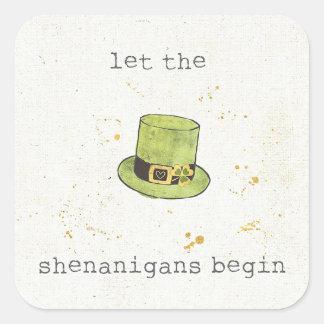 Laat Shenanigans met | Gelukkige Cuties II Vierkante Sticker