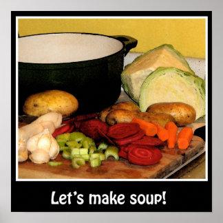 Laat soep maken! Poster