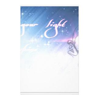 laat uw licht glanzen briefpapier