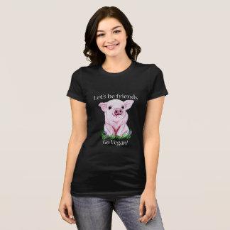 Laat vrienden zijn gaan Overhemd van het veganist T Shirt