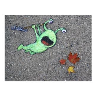 laatste bladeren van de herfst briefkaart