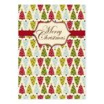 Label 2 van de Gift van Kerstmis Bos Visitekaartjes
