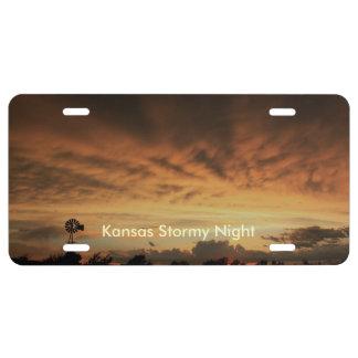 LABEL van de AUTO van de Nacht van Kansas het Nummerplaat