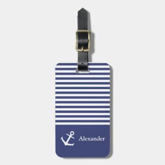 Label van de Bagage Nautica van de Naam van de Kofferlabel
