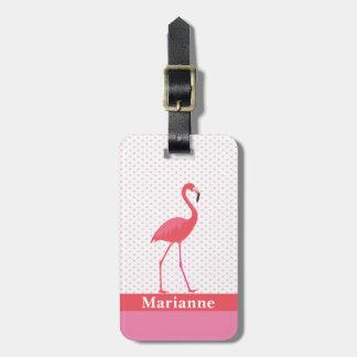 Label van de Bagage van de flamingo het Roze Kofferlabel