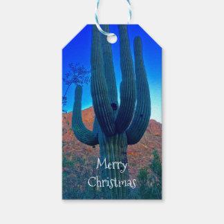 Label van de Gift van Arizona Saguaro het Kerstmis Cadeaulabel